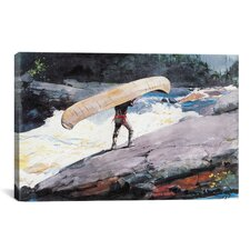 'The Portage 1897' by Winslow Homer Painting Print on Canvas