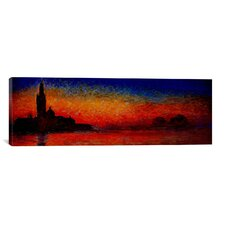 'Sunset in Venice' (Panoramic) by Claude Monet Painting Print on Canvas