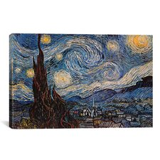 'The Starry Night' by Vincent Van Gogh Painting Print on Canvas
