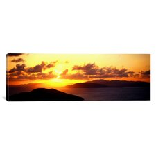 Panoramic Sunset Virgin Gorda British Virgin Islands Photographic Print on Canvas