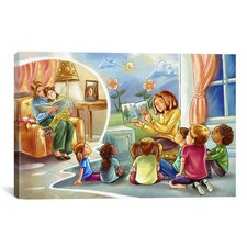Kids Children Storytime Cartoon Canvas Wall Art