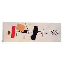 Panoramic 'Suprematist Composition' by Kazimir Malevich Graphic Art on Canvas