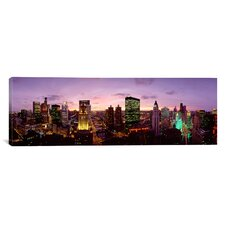 Panoramic Skyscrapers in a City at Dusk, Chicago, Illinois Photographic Print on Canvas
