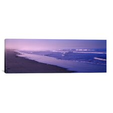 Panoramic Surf on the Beach, Santa Monica, Los Angeles County, California Photographic Print on Canvas