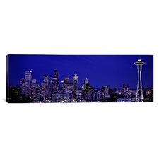 Panoramic Panoramic Skyscrapers Photographic Print on Canvas