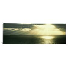 Panoramic Sunset Pacific Ocean San Diego, California Photographic Print on Canvas