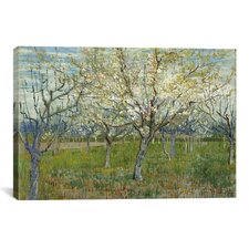 'The Pink Orchard' by Vincent Van Gogh Painting Print on Canvas