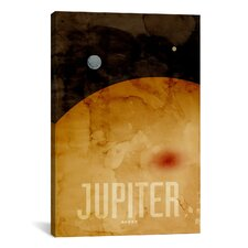 'The Planet Jupiter' by Michael Thompsett Graphic Art on Canvas