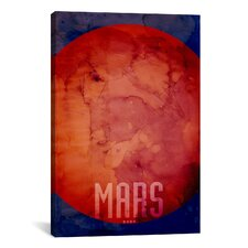 'The Planet Mars' by Michael Thompsett Painting Print on Canvas