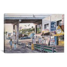 """Santa Monica: Prominade at Sunset"" Canvas Wall Art by Stanton Manolakas"