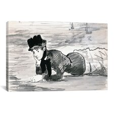 'Woman Lying on The Beach (Annabel Lee)' by Edouard Manet Painting Print on Canvas
