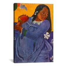'Woman of The Mango (Vahine no te vi)' by Paul Gauguin Painting Print on Canvas