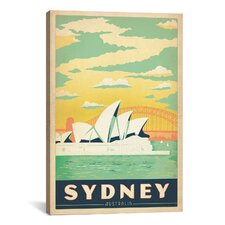 Sydney Opera House - Sydney, Australia by Anderson Design Group Vintage Advertisment on Canvas
