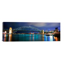 Panoramic Sydney Harbor, Sydney, New South Wales, Australia Photographic Print on Canvas