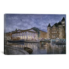 """Syracuse: The Weighlocks and City Hall"" Canvas Wall Art by Stanton Manolakas"