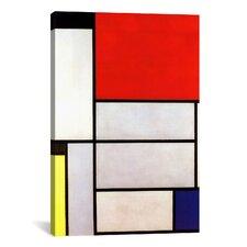 'Tableau l, 1921' by Piet Mondrian Canvas Wall Art