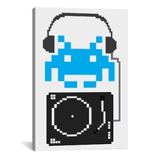 Space Invaders DJ Hero Graphic Art on Canvas