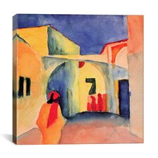 """View into a Lane (a Street)"" Canvas Wall Art by August Macke"