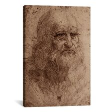 'Self-Portrait 1515' by Leonardo Da Vinci Painting Print on Canvas