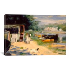 'View of Bougival 1873' by Pierre-Auguste Renoir Painting Print on Canvas