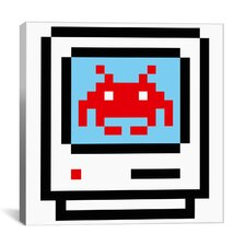 Space Invader - Computer Takeover Pixel Art Canvas Wall Art