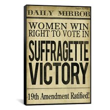 """""""Women's Right to Vote"""" Canvas Wall Art from Color Bakery"""