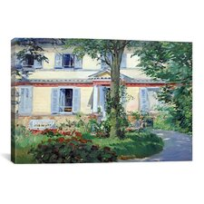 'The House at Rueil' by Edouard Manet Painting Print on Canvas