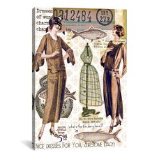 'Vintage Fashion #2' by Luz Graphics Graphic Art on Canvas