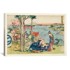 """""""Woodcut, 1806"""" Canvas Wall Art by Katsushika Hokusai"""