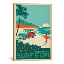 Anderson Design Group Surf's Up Vintage Advertisment on Canvas