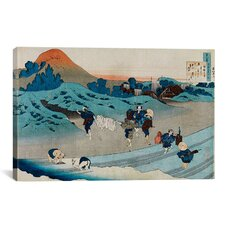 'The One Hundred Poems as Told by the Nurse' by Katsushika Hokusai Painting Print on Canvas