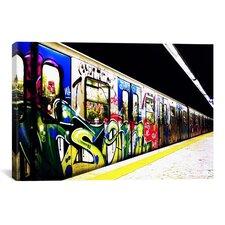 Train Graffiti Canvas Wall Art