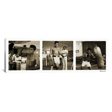 Muhammad Ali Training in Action, at the Gym Panoramic Photographic Print on Canvas