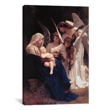 'Song of The Angels' by William-Adolphe Bouguereau Painting Print on Canvas