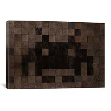 Space Invaders Woody Cube Invader Art Graphic Art on Canvas