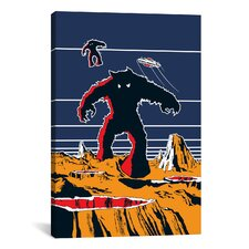 Space Invaders Planet Surface Monster Graphic Art on Canvas