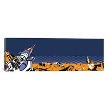 Space Invaders Planet Surface Weapon Graphic Art on Canvas