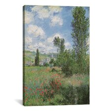 'View of Vetheiul 1880' by Claude Monet Painting Print on Canvas