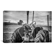 'Tractor and Tobacco Field Baldwin Wallace' by Bob Rouse Photographic Print on Canvas