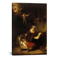 'The Holy Family with Angels' by Rembrandt Painting Print on Canvas