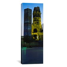 Panoramic Tower of a Church, Kaiser Wilhelm Memorial Church, Berlin, Germany Photographic Print on Canvas