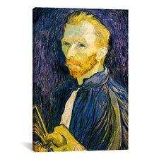 'Selbstbildnis 'Self Portrait', 1887' by Vincent Van Gogh Painting Print on Canvas