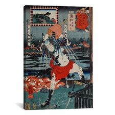 'Urawa Station' by Kuniyoshi Painting Print on Canvas