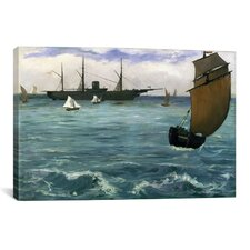 'The Kearsarge at Boulogne' by Edouard Manet Painting Print on Canvas