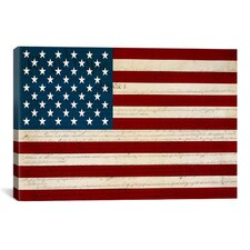U.S. Constitution - American Flag Graphic Art on Canvas