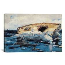 'Sharks (The Derelict) 1885' by Winslow Homer Painting Print on Canvas