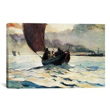 'Tynemouth, Returning Fishing Boats 1883' by Winslow Homer Painting Print on Canvas
