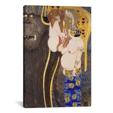 'The Hostile Forces Unchastity, Voluptuousness, Excess' by Gustav Klimt Painting Print on Canvas