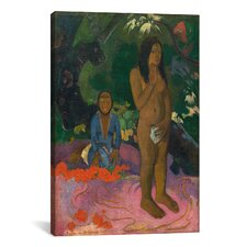 'Words of The Devil (Parau na te Varua ino)' by Paul Gauguin Painting Print on Canvas