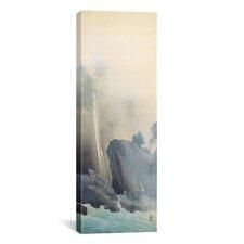 """Towing a Boat"" Panoramic Canvas Wall Art by Yamamoto Shunkyo"